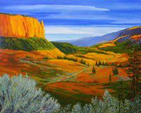 Deadmans_Canyon_Road_from_Above_Linda_Lovisa_acrylic_24x30