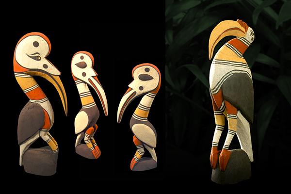 Joseph-Sikin-Hornbill-Carvings