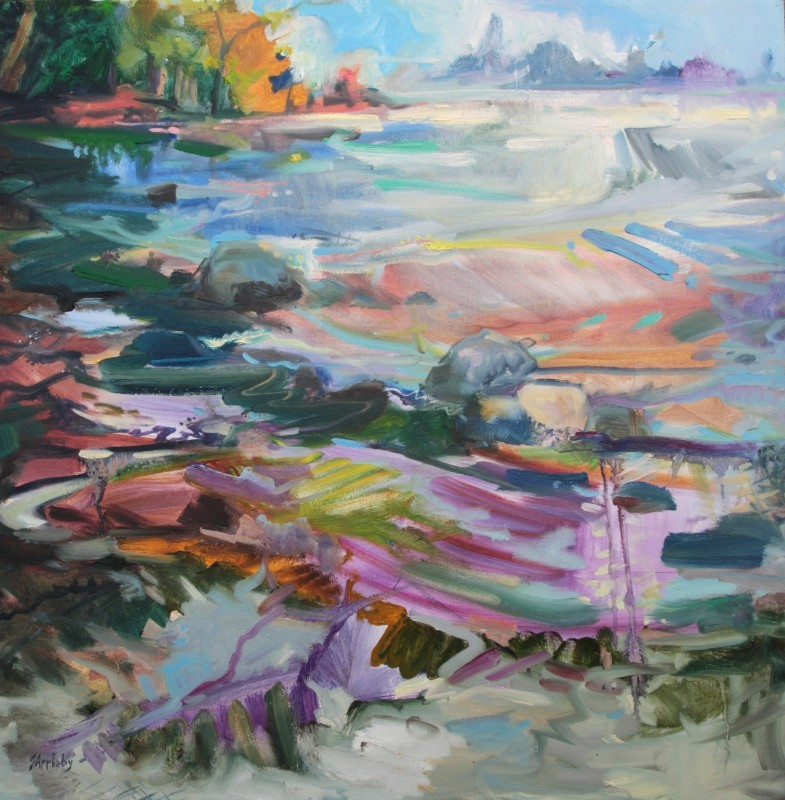 Belcarra-Bay-Expression-30-x-30-Oil-on-Canvas