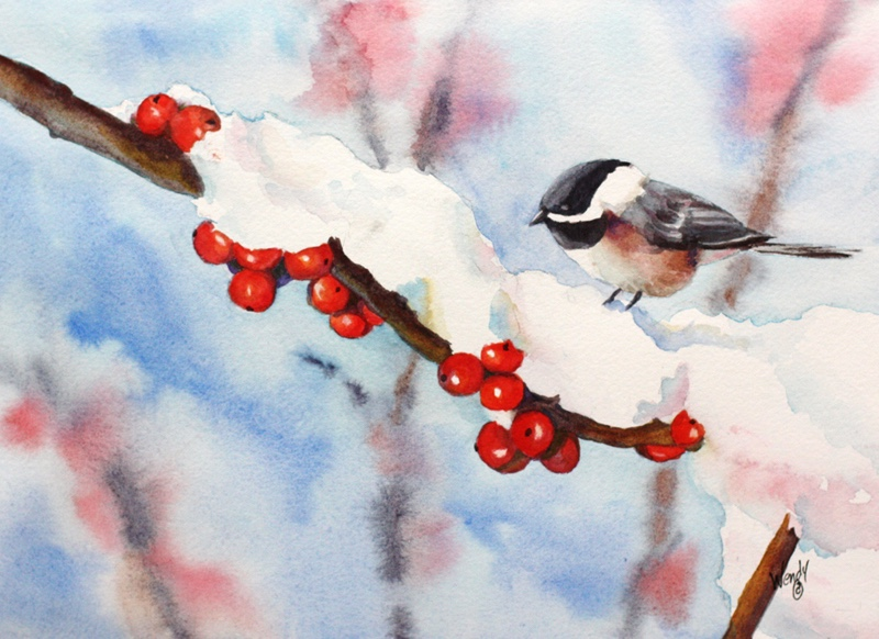 Wendy-Mould.-Winter-Berries.-Watercolor