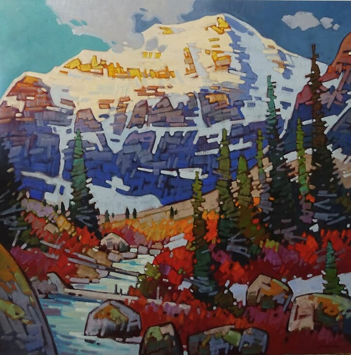 A-Towering-Presence-Mt-Edith-Cavell-60x60-1